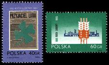 Polska Poland 1965 Fi 1436-37 Mi 1585-86 MNH 70-lecie Ruchu Ludowego