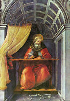 Oil painting Sandro Botticelli - St Augustine in His Cell on canvas