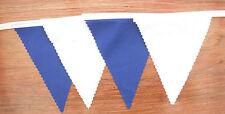Blue & White tessuto Bunting Decorazione Festa Matrimonio 22 FT (ca. 6.71 m) 6.8mt compra 3 paghi 2