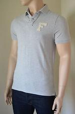 NUOVO ABERCROMBIE & FITCH Mount COLVIN polo in piqué di cotone grigio M Prezzo Consigliato £ 72