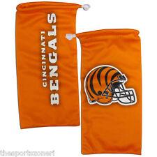 Cincinnati Bengals Microfiber Sunglasses/Phone Storage Bag/Cleaning Cloth
