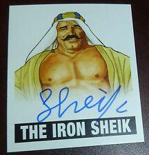 Iron Sheik Signed 2012 Leaf Originals Pro Wrestling Legends Card WWE Auto'd Alt