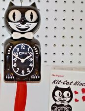 AUTHENTIC Classic Kit Cat Clock Black /Red Tail Made In USA shipS in 24 Hrs.