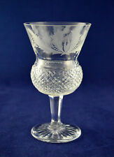 "Edinburgh Crystal ""THISTLE"" Wine Glass – 12cms (4-3/4″) Tall – 1st"