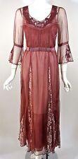 NATAYA Vintage Look Berry Burgundy Red Formal Dress Victorian Gatsby style sz S