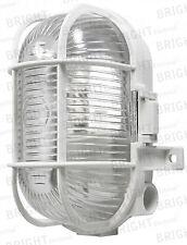 Oval Caged Bulkhead Light White 60w Powermaster S5880