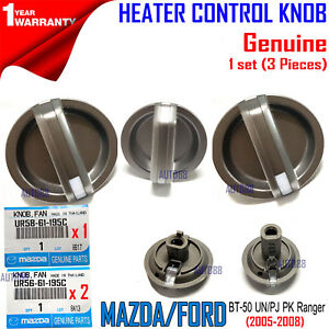 GENUINE FOR FORD PJ PK RANGER SET OF 3 A/C HEATER FAN SPEED TEMP VENT KNOBS