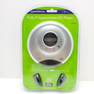 NEW SEALED Durabrand Fully Programmable CD Player CD-565 Silver Portable