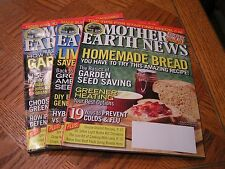 MOTHER EARTH NEWS MAGAZINE ~ 3 ISSUES 2013