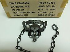 1  Duke #1 Double Jaw Coil Spring Trap Muskrat Mink Squirrel Rabbit 0468