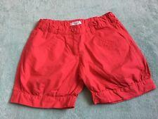 Girls LA REDOUTE Red Cuffed Shorts Age 10 Years