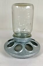 New listing Vtg Kerr Mason Jar Glass Metal Bird Chicken Squirrel Feeder, Steampunk Lamp Part