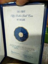 1977 Belize $50 Mayan GOLD Proof Mint Condition Coin Cachet COA
