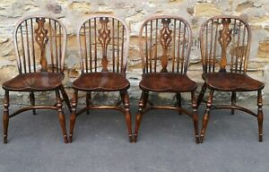 Set of Four Oak Titchmarsh & Goodwin  Windsor Chairs