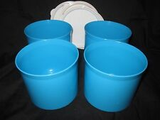 TUPPERWARE Small Round Canister Storage Container Canister Set 2c Snacks Treats