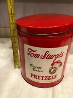 Tom Sturgis Vintage Hearth Baked Pretzels Tin Can