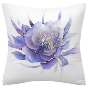 """PILLOW COVER Lavender Purple Flower Watercolor Soft 2-Sided Cushion Case 18x18"""""""