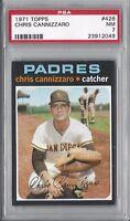 1971 Topps baseball card #426 Chris Cannizaro, San Diego Padres PSA 7 NM