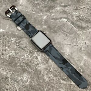 For Apple watch SE 6 5 4 44mm Heavy Duty Grey Rubber Silicone watch Strap Band