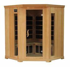 4 Person Hemlock Corner Indoor Spa Carbon Heater FAR Infrared Sauna New