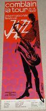 COMBLAIN LA TOUR JAZZ FESTIVAL 1963 Belgian concert poster SUPERB DESIGN RARE