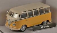 VW T1 Samba Bus - Yellow/Cream, Metal Model.  Cararama  1/43 Scale Camper