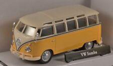 VW T1 Samba Bus - Yellow/Cream, Metal Model.  Cararama  1/43 Scale Camper