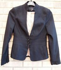 NEXT BLACK DOG TOOTH BUTTONED FIT TAILORED CHECK SUIT BLAZER COAT JACKET 10 S