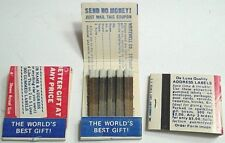 3 vintage matchbooks The Worlds Best Gift address label advertising DD Bean&Sons