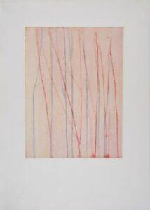 """Pierre THOMA s/n Engraving Aquatint """"Morsure directe"""" Coulées 1994"""