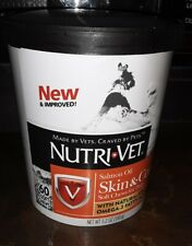 Nutri-Vet Salmon Oil Skin & Coat Soft Chews For Dogs 60 Count EXP 3/20