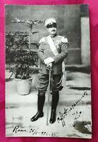 FOTO MILITARE DI  UFFICIALE DEL REGNO D'ITALIA IN ALTA UNIFORME 1934 CON DEDICA
