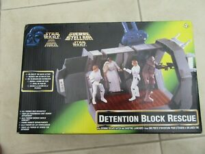 Star Wars Detention Block Rescue 1997 Power of the Force with box Kenner