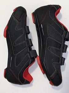 Diamondback Road Bike Shoes- Black / Red - Size 11.5 (45EU) Shoes