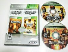 Saints Row: Double Pack (Microsoft Xbox 360, 2010) No Scratch on the CDs