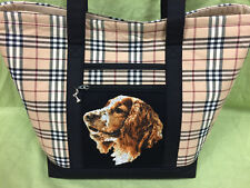 Beautiful Custom Embroidered Welsh Springer Spaniel Tote