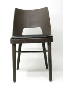 Mid Century Modern Danish Bentwood Barrel Dining Side Chair 1967