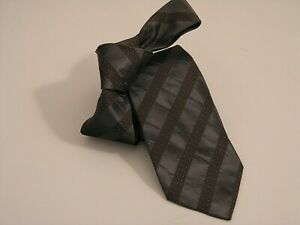 "BURBERRY vintage made in england MANSTON brown grey silk handmade ""series 20805"""