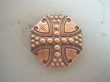 "Berry Copper Cross Concho 1 1/2"" octagon"