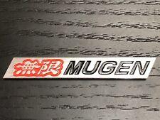 Mugen Aluminium Badge Red Black CIVIC INTERGA S2000 JDM TYPE R VTEC