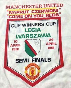 Manchester United Legia Warszawa ECWCSF vintage T SHIRT XL Screen Stars UNWORN