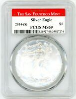 2014-(S) $1 1 OZ Silver Eagle MS69 PCGS Struck At San Francisco Mint