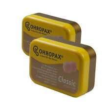 Ohropax Reusable Wax Cotton Earplugs Nrr 23dB (2 Pack) Deluxe Hearing Protection