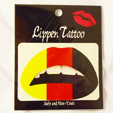 Lippen Tattoo Deutschland Lip Sticker Olympic Games FAHNE FUßBALL FLAGGE Party