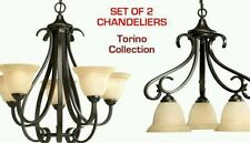 Set of 2 Chandeliers Torino Collection