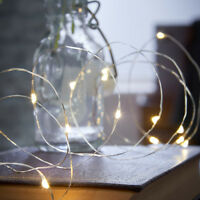 4.5m Battery Power Indoor Firefly Wire Fairy Lights with Timer | Home Garden