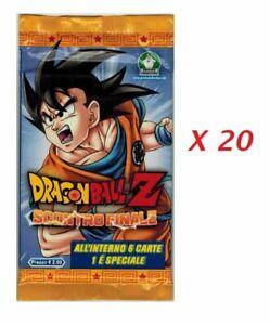 Dragon Ball Z Scontro Finale Lotto 20 Bustine Cards Bandai