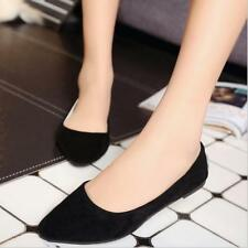 Fashion Womens Leisure Loafers Suede Casual Slip-On Flats Single Point-Toe Shoes