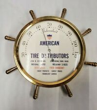 Vintage American Tire Distributors Advertising Thermometer Gas & Oil 6""