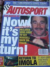 AUTOSPORT MAGAZINE APR 27 1995 MCLAREN MANSELL RETURN TO IMOLA SENNA AND SAFETY
